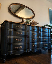 Load image into Gallery viewer, (SOLD) Gorgeous Restoration Hardware inspired French Country Double Serpentine 12Drawer Dresser. Perfect Modernized French Statement Piece!!