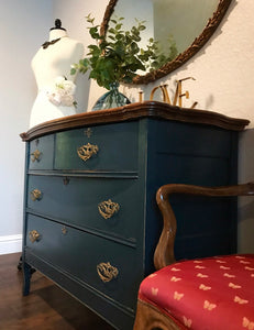 (SOLD) Gorgeous Antique 1920s Victorian Dresser/Entryway/Buffet/Console with Beautiful Original Details!!