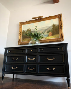 (SOLD) CENTURY MODERN Verstile Dresser/Media/Entryway/Console/Buffet in Black Finished!!