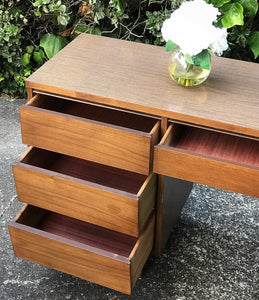 (SOLD) Gorgeous Vintage Modern Mid-Century Desk in Great Condition. Perfect for Wood Lover!!! This piece is Simply Beautiful, Well Kept and Solid!!