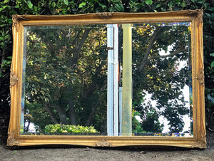 (SOLD) Stunning Vintage French Country Mirror with Gorgeous Details and Bevelled Glass!! This is a RARE BEAUTY!! 41X24