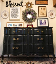 Load image into Gallery viewer, (SOLD) Gorgeous Vintage French Country Dresser/Buffet/Media/Entryway/Console with Beautiful Details and Hardware!! 57X35X21