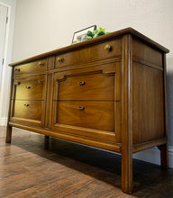 Load image into Gallery viewer, (SOLD) Simply BEAUTIFUL and SOLID High-End Drexel Mid Century Modern Dresser-Entryway-Console-Sofa Table in Superb Condition!! Perfecf MCM piece for Minimalist and Wood Lover!!