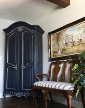 Load image into Gallery viewer, (SOLD) Gorgeous Vintage Modernized French Country Armoire with Beautiful Details!!! 80X45X18