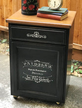Load image into Gallery viewer, (SOLD) Gorgeous Versatile French-Farmhouse inspired Rolling Storage Cabinet/Coffee Bar/Mini Island/Corner Display Piece in Excellent Condition!!