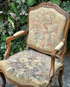 (SOLD) Gorgeous 1940s French Country Accent/Decorative Chair with Beautiful Details and Design!!!