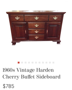 (SOLD) Gorgeous High-End Harden Coffee-Snack Bar Table/Sideboard Buffet/Entryway/Media/Corner Storage (with wheels!) in Excellent Condition.!!