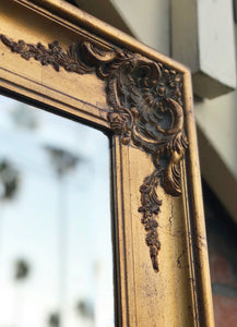 (SOLD) Gorgeous Vintage Extra-Large French Country Decorative Standing Bevelled Mirror with Beautiful Details!!