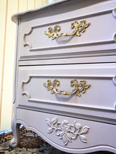 Load image into Gallery viewer, (SOLD) Gorgeous Vintage French Country Dresser and Nightstand with Beautiful Details and Great Condition!! Perfect BEAUTIES!!