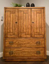 Load image into Gallery viewer, (SOLD) Gorgeous and Bargain High-End Drexel Rustic Mid-Century Modern Tall Boy/Chest of Drawers/Dresser in Excellent Condition!