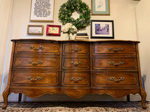 Load image into Gallery viewer, (SOLD) Gorgeous 2PC Vintage French Country Dresser and Nightstand in Superb Like NEW Condition. Perfect Vintage BEAUTIES for Wood Lover!!