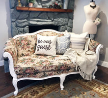 Load image into Gallery viewer, (SOLD) Gorgeous High-End Ethan Allen French-Victorian Settee with Beautiful Floral Design and Excellent Condition!! 72X35X35