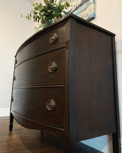 (SOLD) GORGEOUS 2PC Restoration Hardware inspired (Dark Wood-Black) CHEST & DRESSER!! They are BEAUTIES!