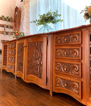 Load image into Gallery viewer, (SOLD) Gorgeous Like NEW Custom Built 10FT Media/Entryway/Buffet/Credenza in Like NEW Condition!!! Heavy Duty Solid Wood 120X33X2
