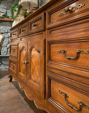 Load image into Gallery viewer, (SOLD) Gorgeous High-End Vintage French Country Dresser/Entryway/Media/Credenza with Beautiful Details and Hardware!!!