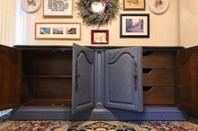 Load image into Gallery viewer, (SOLD) Gorgeous Vintage French Country Sideboard/Buffet/Media/Entryway/Storage (in wheels!) with Beautiful Details and Hardware!!