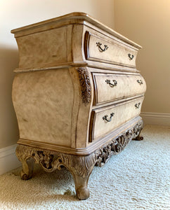 (SOLD) Stunning Extra Large Ornate French Country Bombay Chest Entryway/Dresser/Buffet/Media with Gorgeous Details and Excellent Condition!!