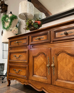 (SOLD) Gorgeous High-End Vintage French Country Dresser/Entryway/Media/Credenza with Beautiful Details and Hardware!!!