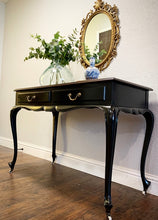 Load image into Gallery viewer, (SOLD) GORGEOUS Vintage to Modern French Queen Anne Desk/Vanity with Glass Top (rococco style mirror optional!) in Superb Condition!!