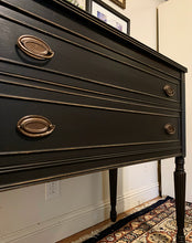 Load image into Gallery viewer, (SOLD) Simply Beautiful 1940s Modernize Server/Entryway/Snack-Coffee Table/Console with Beautiful Design and Original Hardware!!