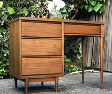 Load image into Gallery viewer, (SOLD) Gorgeous Vintage Modern Mid-Century Desk in Great Condition. Perfect for Wood Lover!!! This piece is Simply Beautiful, Well Kept and Solid!!