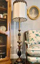Load image into Gallery viewer, (SOLD) Gorgeous 1940s Victorian Decorative Floor Lamp with Beautiful Details!! All Original, Heavy Duty Brass and Excellent Condition!!