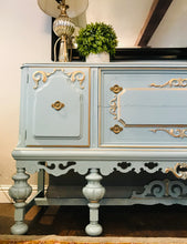 Load image into Gallery viewer, (SOLD) Gorgeous 1920s Jacobean Buffet with Beautiful Details and Great Condition!! 68X38X21