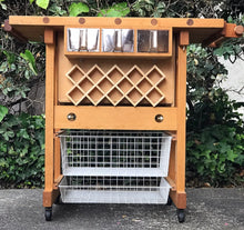 Load image into Gallery viewer, (SOLD) GORGEOUS Portable Kitchen Island/Peninsula Cart with Natural Solid Butcher Wood Top in Excellent Condition!! 42W 35H 25D
