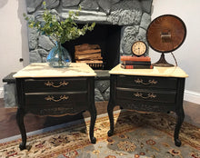 Load image into Gallery viewer, (SOLD) Gorgeous Restoration Hardware inspired Vintage French Country End/Side Tables/Nighstands with Beautiful Details and Hardware!!!
