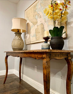 (SOLD) GORGEOUS Vintage French Country Rustic Scalloped Entryway/Sofa Table/Console/Media with Beautiful Design and Superb Condition!!