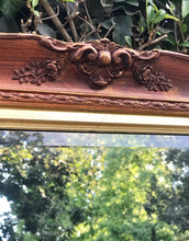 Load image into Gallery viewer, (SOLD) Gorgeous Vintage French Country Decorative Mirror with Beautiful Handcarved Rose Details and Bevelled Glass. Perfect Statement Piece!!!