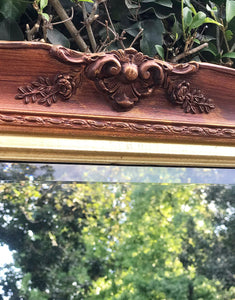 (SOLD) Gorgeous Vintage French Country Decorative Mirror with Beautiful Handcarved Rose Details and Bevelled Glass. Perfect Statement Piece!!!