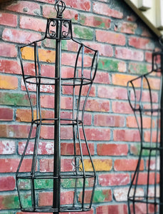 (SOLD) Gorgeous Pair of Vintage Heavy Duty Adjustable Steel Wire Mannequin. Perfect Vintage Decorative Pieces or Dress Form Stand