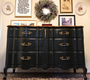 (SOLD) Gorgeous Vintage French Country Dresser/Buffet/Media/Entryway/Console with Beautiful Details and Hardware!! 57X35X21