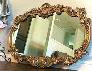 (SOLD) Stunning Vintage Large Ornate Decorative Victorian Mirror in Excellent Condition!!!