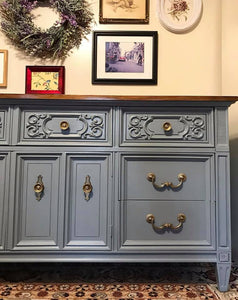 (SOLD) Gorgeous Vintage High-End American of Martinsville Dresser/Buffet/Media/Entryway with Beautiful Details!!!78X32X20