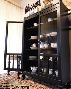 (SOLD) Gorgeous 1920s Restoration Hardware inspired Victorian Multi-Purpose Curio/Display/Storage Cabinet!!! BEAUTY!! 35W 56H 16D