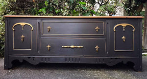 (SOLD) GORGEOUS 1940s Chest/Bench/Coffee Table/Storage/Bed-End Piece with Beautiful Details and Hardware!!  59W 23H 20D