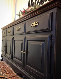 (SOLD) Gorgeous Vintage Restoration Hardware Inspired French Country Clawfoot Buffet/Media/Dresser/Entryway!! 68X34X18