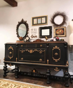 (SOLD) Gorgeous Antique Jacobean Buffet/Media/Entryway in Stunning Condition. Perfect STATEMENT Piece indeed!!! 68X37X22