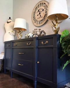 (SOLD) GORGEOUS Vintage High-End Century-Restoration Hardware Inspired Buffet/Media/Dresser/Entryway