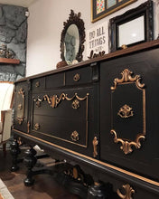 Load image into Gallery viewer, (SOLD) Gorgeous Antique Jacobean Buffet/Media/Entryway in Stunning Condition. Perfect STATEMENT Piece indeed!!! 68X37X22