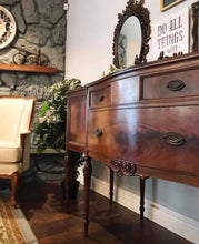 Load image into Gallery viewer, (SOLD) GORGEOUS 1930s French Country Buffet/Sideboard/Credenza/Entryway/Dresser/Media with Beautiful Details!!! 68W 37H 22D