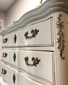 (SOLD) GORGEOUS Vintage French Country Chest of Drawers/Dresser and matching Nightstand
