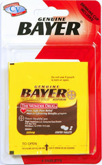 TRAVEL SIZE BAYER ASPIRIN 4 TABLETS