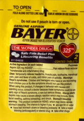 Bayer single pack NO BLISTER