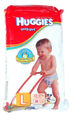 HUGGIES DIAPERS SZ L RTL SIZ 10-CT