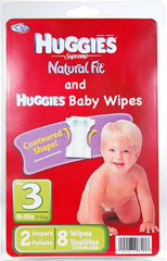 HUGGIES DIAP MED 2-CT W/BRANDED WIPES