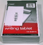 "WRITING TABLET, 6"" X 9"" - 12 TABLETS"