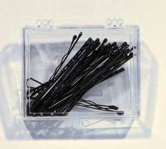 TRAVEL SIZE BOBBY PINS BULK 24'S IN PLASTIC BOX